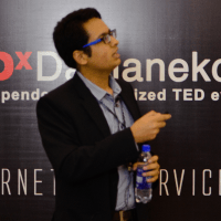 Awais Imran speaking at TEDxDamaneKoh